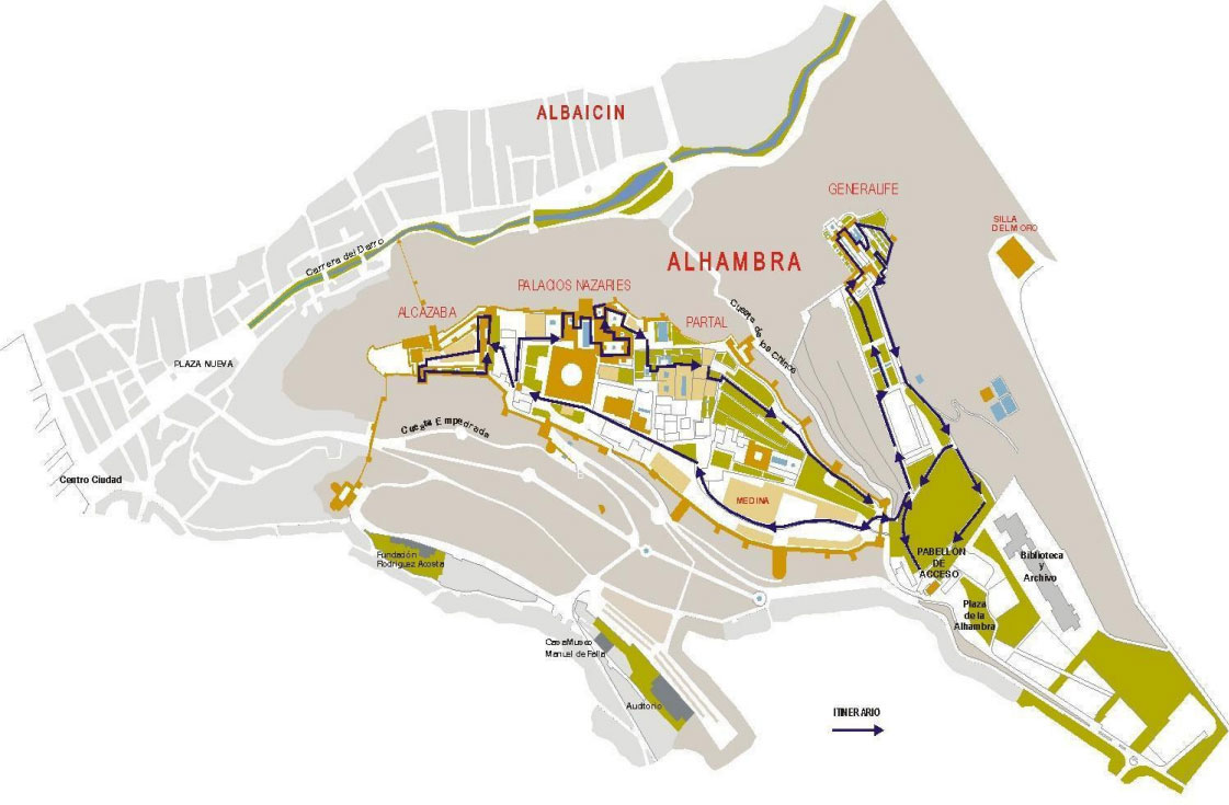 Who to get to the Alham Maps Of Alcazaba Malaga on cathedral of malaga, festival malaga, costa del sol spain malaga,